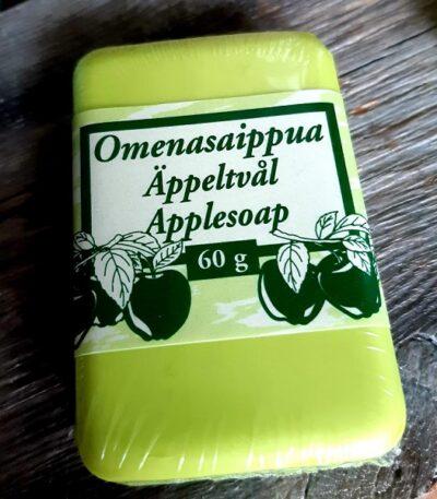 Äppeltvål handtillverkad i Finland